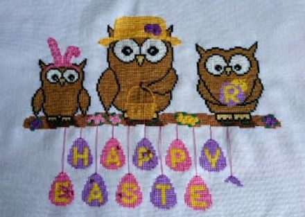 Easter Ollie Owl Family